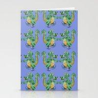 Dragon Pattern Stationery Cards