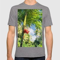 Keanae Palm Beauty Mens Fitted Tee Tri-Grey SMALL