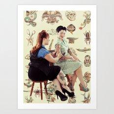 Modern Beauty. Art Print