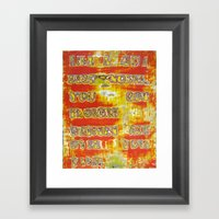 Pickup Lines - Pulp Fict… Framed Art Print