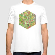 Panelscape - #6 society6 custom generation SMALL White Mens Fitted Tee