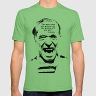 Charles Bukowski Quote C… Mens Fitted Tee Grass SMALL