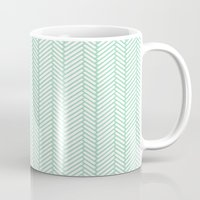 Herringbone Mint Mug