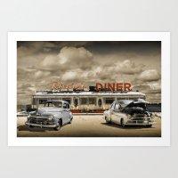 Historic Rosie's Diner W… Art Print