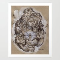 Protecting The Delicate … Art Print