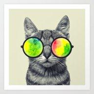 Psychedelic Feline Art Print