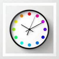 Clock Dots - Color Optio… Art Print