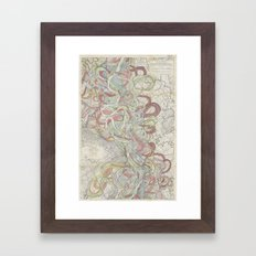 Beautiful Map Of The Low… Framed Art Print