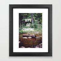 Let's Go Camping II Framed Art Print