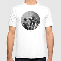 Lavender (Black & White) Mens Fitted Tee White SMALL