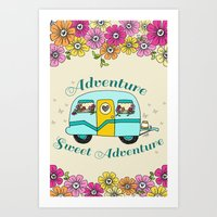 Camper Love Art Print