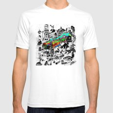 GLOBAL A GO-GO White SMALL Mens Fitted Tee