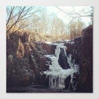 Frozen Waterfall - Winte… Canvas Print