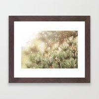 snow on pine Framed Art Print