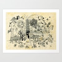 Grotesque Flora And Faun… Art Print