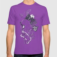 Northern Americana  Mens Fitted Tee Ultraviolet SMALL
