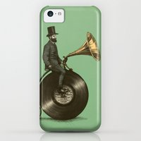 iPhone 5c Cases featuring Music Man (Green Option) by Eric Fan