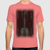 breathing music tonight Mens Fitted Tee Pomegranate SMALL