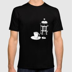 Coffee Break Mens Fitted Tee Black SMALL