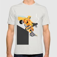 Oops (BumbleBee) Mens Fitted Tee Silver SMALL