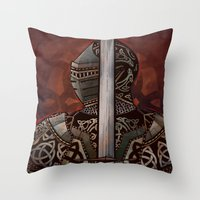 The Knotted Knight Throw Pillow