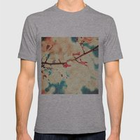 Autumn (Leafs in a textured and abstract sky) Mens Fitted Tee Athletic Grey SMALL