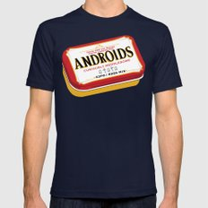 Androids Mens Fitted Tee Navy SMALL