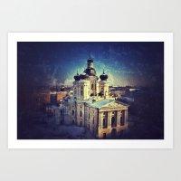 Cathedral At Dawn Art Print