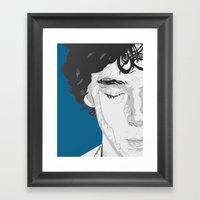 Sherlock Close-Up Framed Art Print