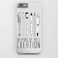 illustration iPhone & iPod Cases featuring weapons of mass creation by Bianca Green