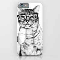 birthday iPhone & iPod Cases featuring Mac Cat by florever