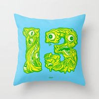 Ugly 13 Throw Pillow