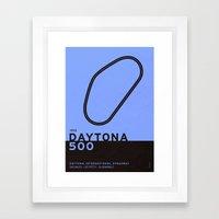 Legendary Races - 1959 Daytona 500 Framed Art Print
