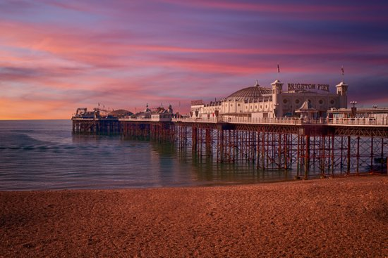Brighton Pier Sunrise Art Print