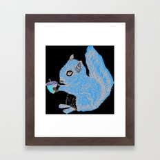 Squirrel in Colour Framed Art Print