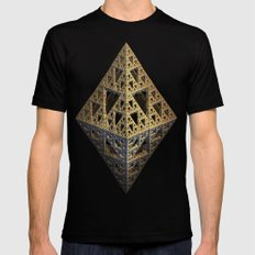 multi triangle Mens Fitted Tee Black SMALL