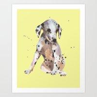 Lemon Dalmatian Art Print