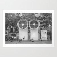 PEOPLE OF PARIS Art Print