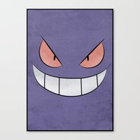 Gengar - Pokemon Minimal… Canvas Print