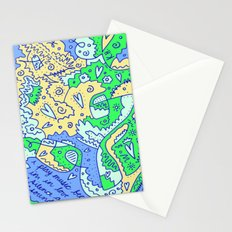Silence and Sound Stationery Cards