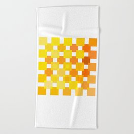 Beach Towel - 50 Squares of YELLOW - Living Hell - Hell-Prints-Munich