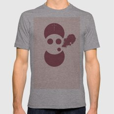 Circles&smoke Mens Fitted Tee Athletic Grey SMALL