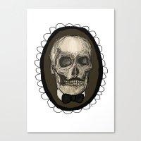 Dapper Skull  Canvas Print