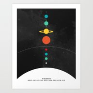 Art Print featuring The Solar System by John David Harris