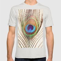 Peacock Mens Fitted Tee Silver SMALL