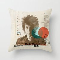 Bob Dylan Throw Pillow