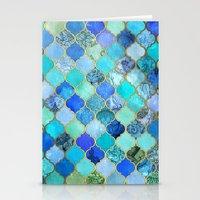 Cobalt Blue, Aqua & Gold… Stationery Cards