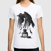 Ink Raven Womens Fitted Tee Ash Grey SMALL
