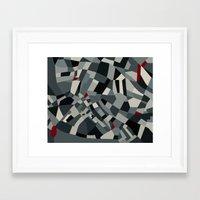 London Tex Framed Art Print