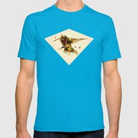 android hummingbird Mens Fitted Tee Teal SMALL